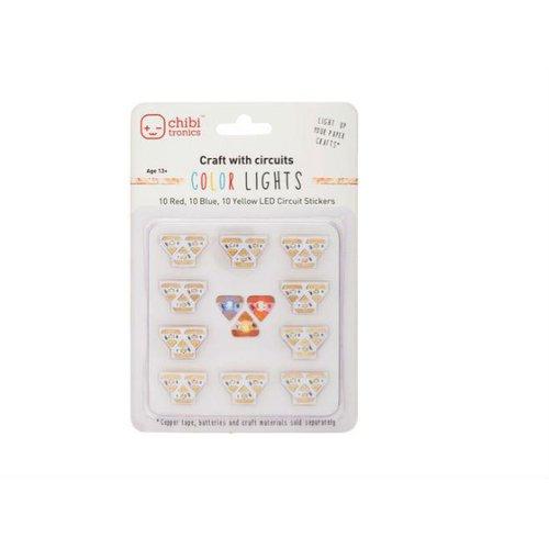 Chibitronics用LEDパック(赤・黄・青)