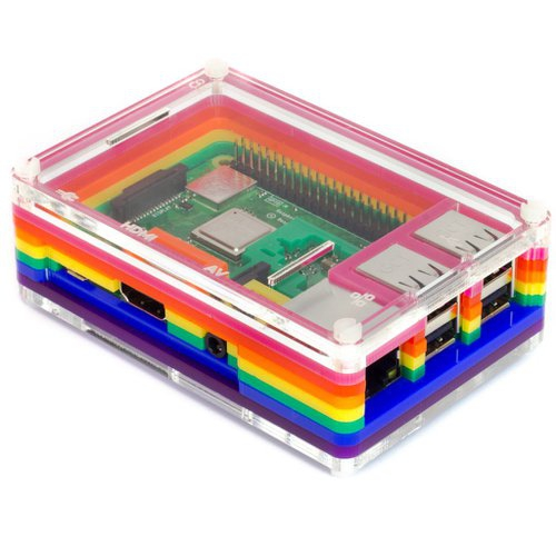 Raspberry Pi用ケース Pibow 3 B+ - Rainbow