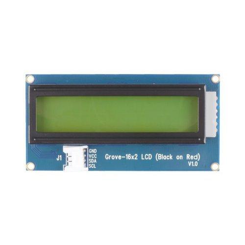 GROVE - 16 x 2 LCD(赤背景・黒文字)