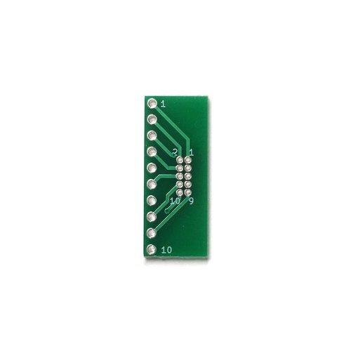 ピッチ変換基板(1.27mm 2×5P⇔2.54mm 1×10P)