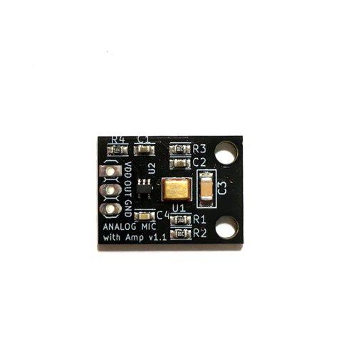 アンプ内蔵アナログ出力MEMSマイク変換基板