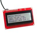 20x4 シリアル接続LCD - 黒文字 RGB背景 3.3V