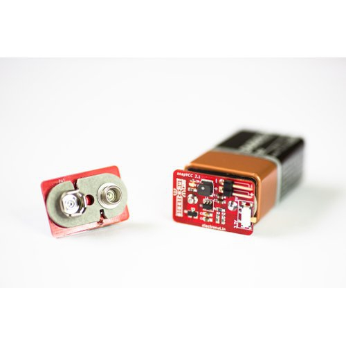 snapVCC - 9V電池で3.3/5Vを供給するスナップ