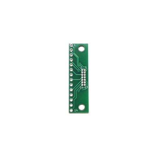 ピッチ変換基板(1.27mm 2×7P⇔2.54mm 1×14P)