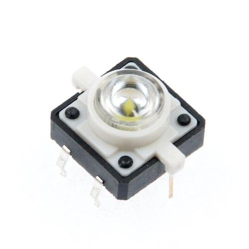 LED付きタクトスイッチ(白)