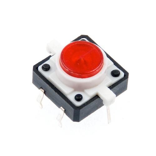 LED付きタクトスイッチ(赤)