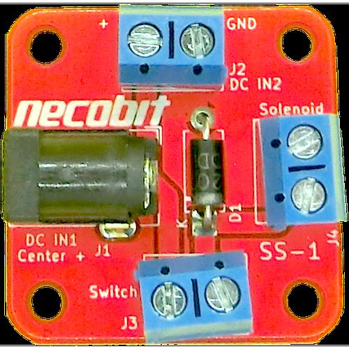 かんたんソレノイド基板 Solenoid Switch 1port SS-1