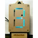ネオン管風1桁時計-NEONIC-CLOCK1
