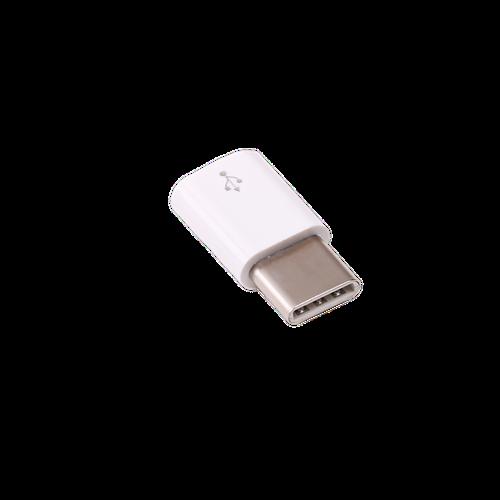 USB micro-B(オス)をUSB Type-C(オス)に変換するアダプタ