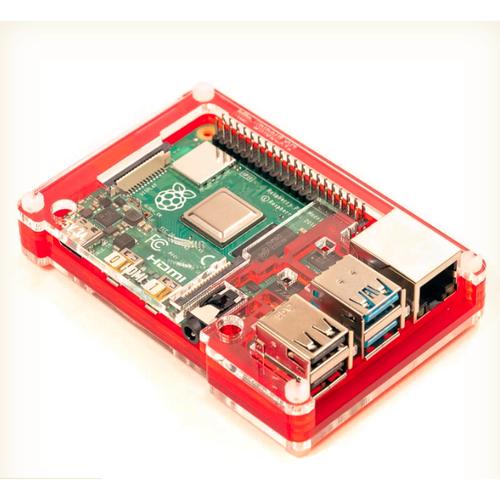 Pibow Coupé 4 - Raspberry Pi 4専用ケース 赤
