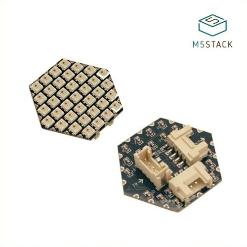 M5Stack用NeoPixel互換LED搭載 六角形ユニット