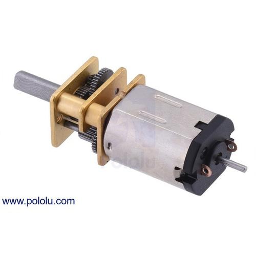 50:1 シャフト付き超小型メタルギアドモーター HPCB 12V