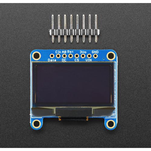STEMMA QT/Qwiic互換  128x64 OLED モノクロディスプレイ