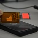 フレキシブル有機EL照明 A9F4C0B 赤 15mm角 無線給電タイプ