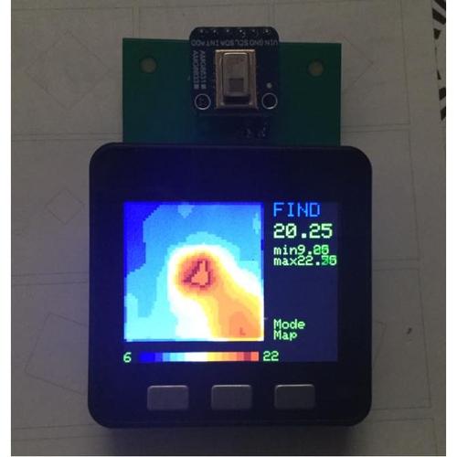 M5Stack用サーモアレイセンサAMG8833変換基板