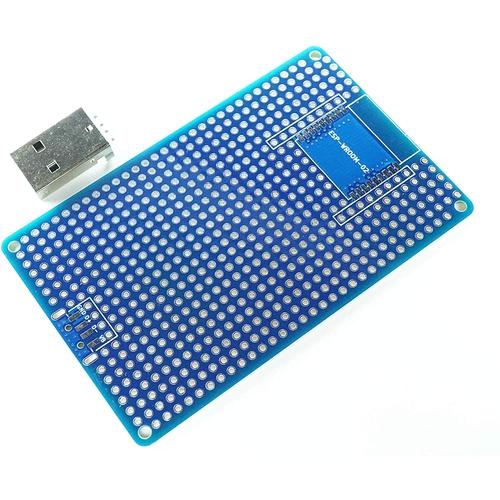 ESP-WROOM-02 プロト基板 L + USB TypeA