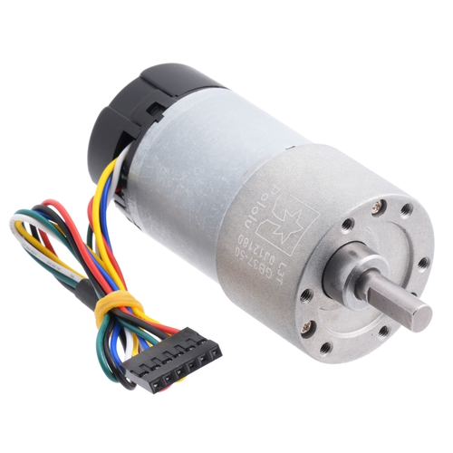 50:1 CPRエンコーダ搭載 メタルギアドモーター 12 V