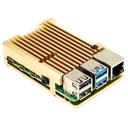 Raspberry Pi 4用アルミヒートシンクケース(ゴールド)