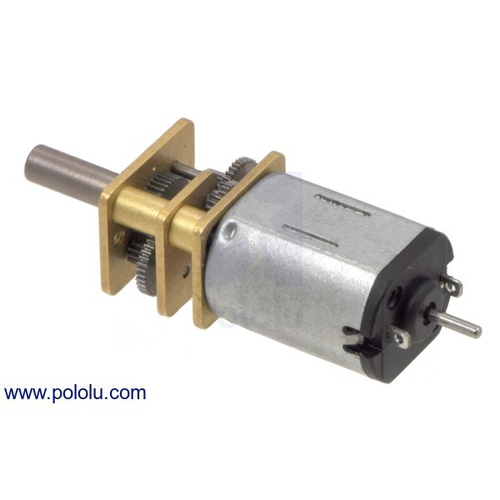 50:1 シャフト付き超小型メタルギアドモーター LP 6V