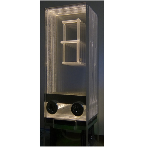 透明アクリル 8 セグメント LED モジュール(ウォームホワイト)