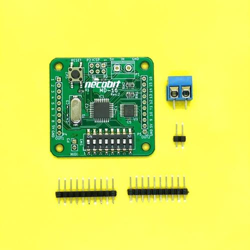 MD-16(MIDIからデジタルスイッチ16ポート)Rev.2