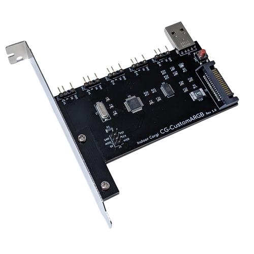 プログラミング可能なアドレサブルRGB LEDコントローラー「CG-CustomARGB」