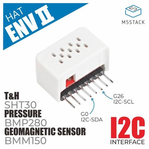 M5StickC ENV II Hat(SHT30/BMP280/BMM150搭載)