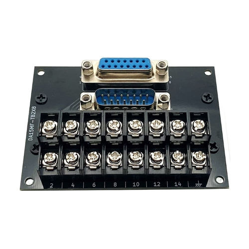 コネクタ端子台変換ユニット(2列D-sub15オス/メス⇔端子台)