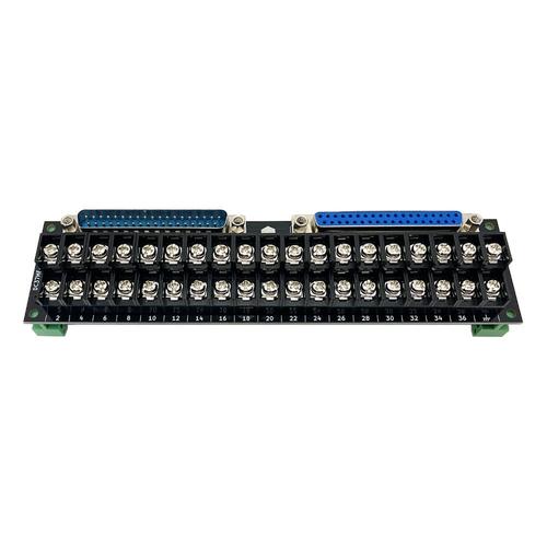コネクタ端子台変換ユニット(D-sub37オス/メス⇔端子台)