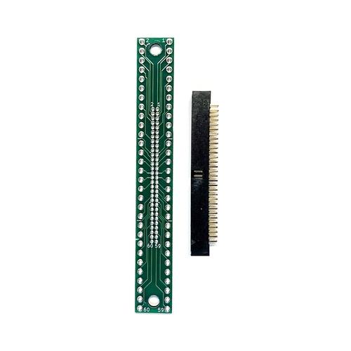 ピッチ変換基板(1.27mm 2×30P⇔2.54mm 2×30P)、ボックスヘッダ付