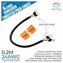 24AWG 4芯シールドツイストペアケーブル 20cm