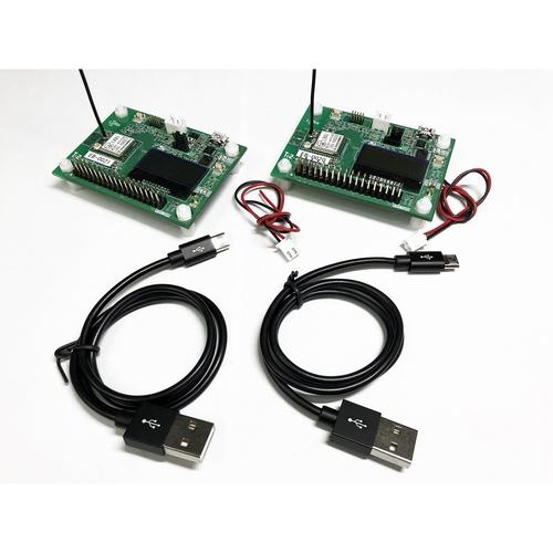 LRA1 LoRa/FSK通信モジュール評価ボード2台セット(ワイヤアンテナタイプ) LRA1-EB-M1-2