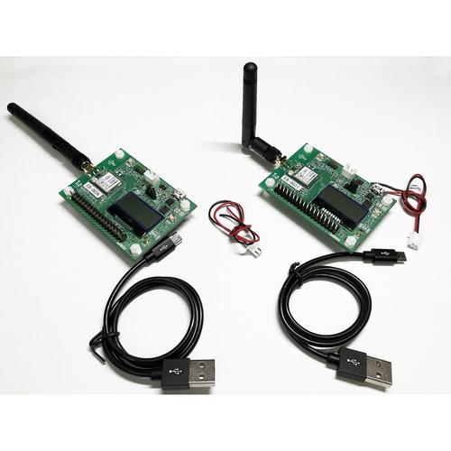 LRA1 LoRa/FSK通信モジュール評価ボード2台セット(SMA外付けアンテナタイプ) LRA1-EB-SMA-2