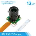 Arducam IMX477搭載 IRカットHQ Camera 6 mm CSレンズ付(Raspberry Pi用)