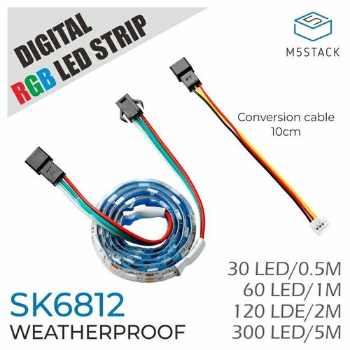 SK6812搭載 防水RGB LEDテープ 200cm(120LEDs)