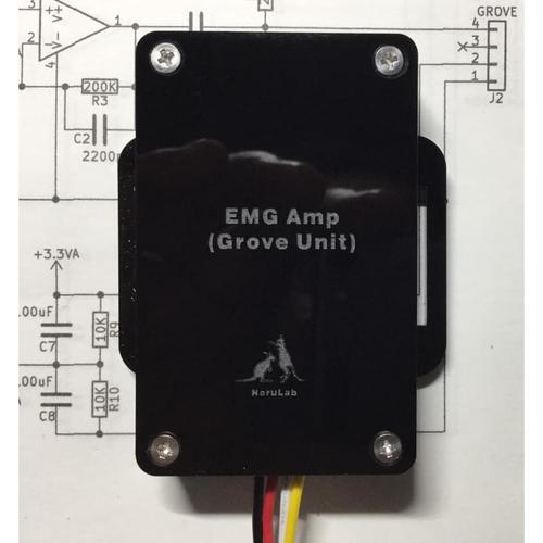 リスト筋電図センサGrove接続ユニット – WRIST-EMGGROVE02