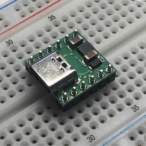 横型USB TYPE-C コネクタ(SBD/3.3V1A LDO内蔵)