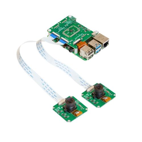 Arducam OV9281搭載 Raspberry Pi/Jetson Nano/NX用 モノクロデュアルカメラモジュールキット(1MP x 2)