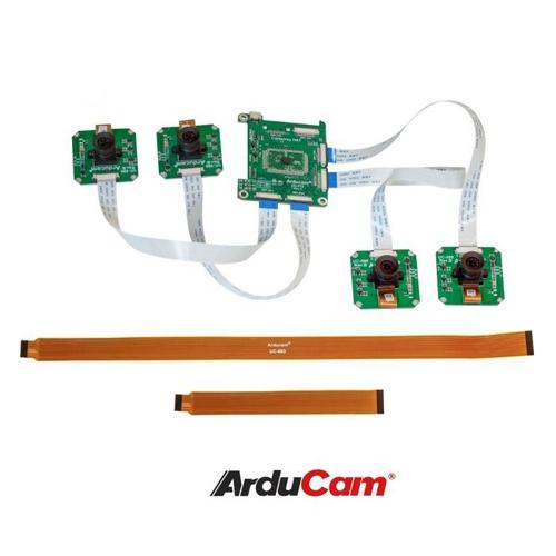 Arducam OV9281搭載 Raspberry Pi/Jetson Nano/NX用 モノクロクアッドカメラモジュールキット(1MP x 4)