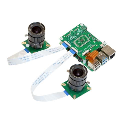 Arducam IMX477搭載 Raspberry Pi用 同期型デュアルカメラモジュールキット(CSレンズ付き)