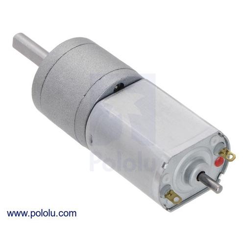 100:1  20D x 44L メタルギアドモーター(6 V /カーボンブラシ/延長モーターシャフト)