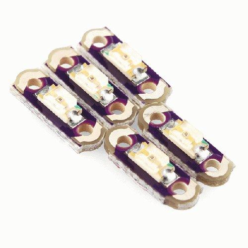 LilyPad LED Micro - 赤色 (5個)--販売終了