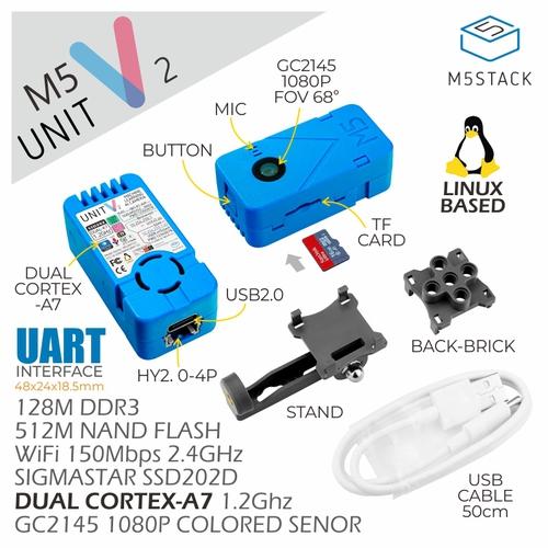 M5Stack UnitV2 AI カメラ(SSD202D)