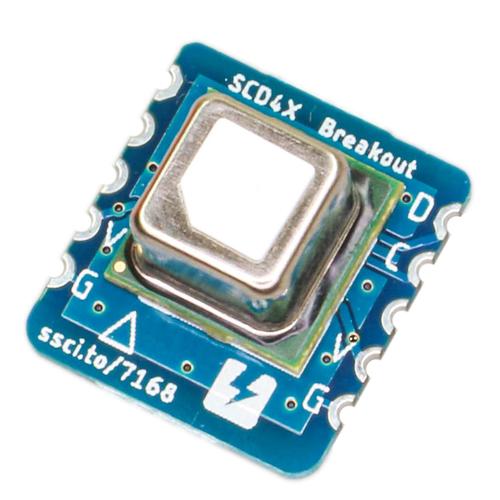 SCD40搭載CO2センサピッチ変換基板