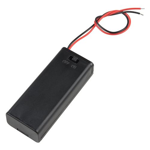 単四電池2本 リード線付き電池ボックス