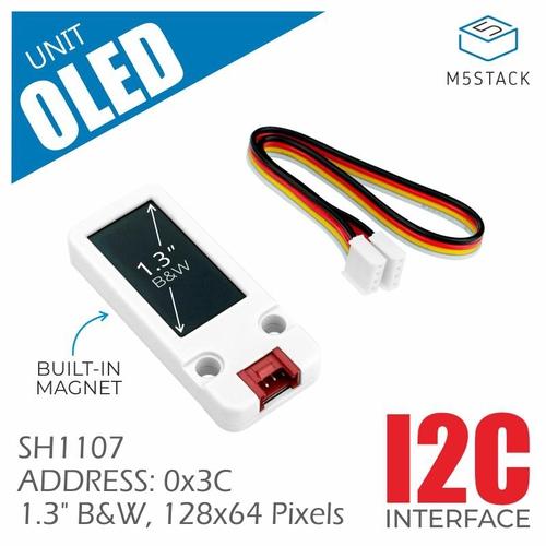 M5Stack用1.3インチ 128 x 64 OLEDディスプレイユニット