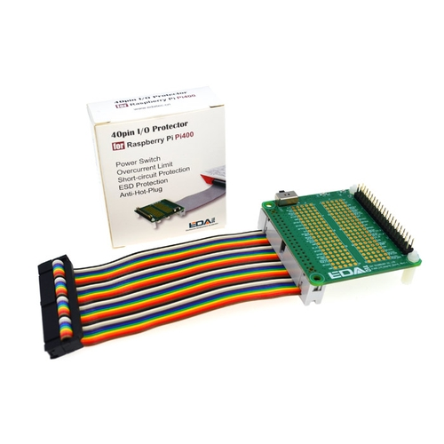 Raspberry Pi 400用 40ピン I/Oプロテクター(レインボー)