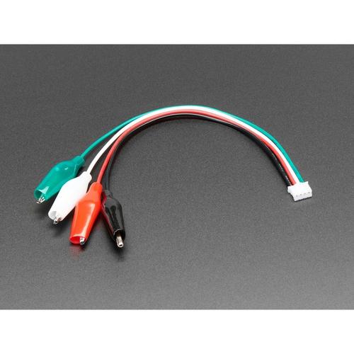 JST PH型 4ピンコネクタ - ワニ口クリップ色付き変換ケーブル