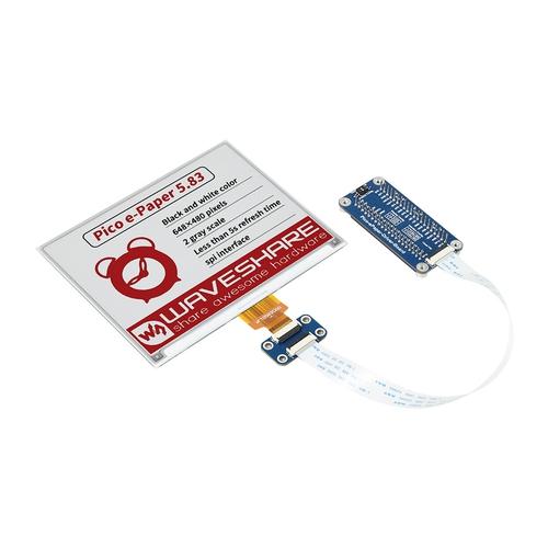 Raspberry Pi Pico用 5.83インチ e-Paper ディスプレイ(白黒赤)648×480