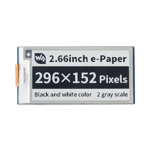 Raspberry Pi Pico用 2.66インチ e-Paper ディスプレイ(白黒)296×152